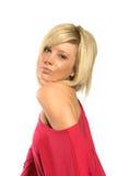 Moderne blonde Frau Stockbild