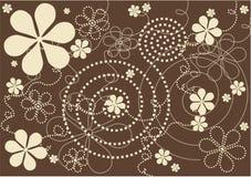 Moderne Blumen - brauner Hintergrund lizenzfreie abbildung