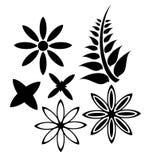Moderne Blumen - Satz Stockfoto