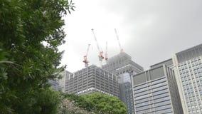 Moderne bouwwerf stock video