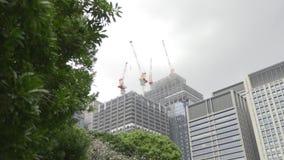 Moderne bouwwerf stock footage