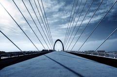 Moderne Brücke gelegen in Nanjing, China lizenzfreie stockbilder