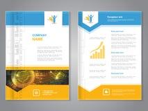 Moderne brochure met pijlontwerp, abstracte vlieger met technologieachtergrond Lay-outmalplaatje Aspectverhouding voor A4 grootte vector illustratie