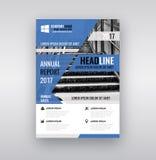 Moderne Broschüren-/Flieger-Design-Schablone Lizenzfreies Stockfoto
