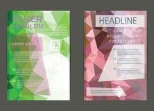 Moderne Broschürenabdeckung und Briefkopfschablone Stockfotos