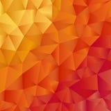 Moderne Broschürenschablone mit Muster in der warmen Farbe Stockbild