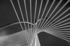 Moderne Brugarchitectuur - Jambatan Seri Wawasan Royalty-vrije Stock Foto