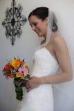 Moderne bruid stock foto's