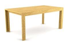 Moderne bruine houten lijst die op wit wordt geïsoleerd Stock Foto's