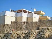 Moderne bungalowvilla Stock Afbeelding