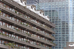 Moderne bureau en flatgebouwen Royalty-vrije Stock Afbeelding