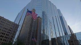 Moderne Bureaubuidlings van Bank van Amerika in de Stad van Oklahoma - de V.S. 2017 stock videobeelden