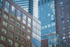 Moderne bureaugebouwen, de Stad van New York Stock Foto's