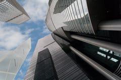 Moderne bureaugebouwen in Hong Kong Stock Foto's
