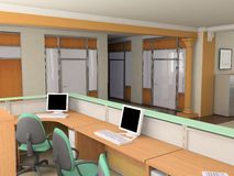 Moderne bureauinterio Royalty-vrije Stock Foto's