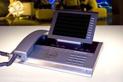 Moderne bureautelefoon royalty-vrije stock afbeeldingen
