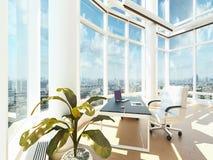 Moderne Bureauzaal | Architectuurbinnenland Royalty-vrije Stock Afbeeldingen
