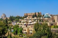 Moderne buurt in Jeruzalem, Israël. Royalty-vrije Stock Foto