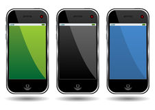 Moderne celtelefoons royalty-vrije illustratie