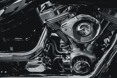 Moderne Chrom Chopper Engine-Luxuskunst Lizenzfreies Stockfoto