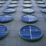 Moderne cirkelvensters Stock Foto