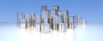 Moderne city skyline Royalty Free Stock Photo