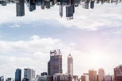 Moderne cityscape mening vector illustratie