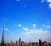 Moderne cityscape van Doubai Royalty-vrije Stock Afbeelding