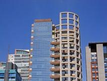 Moderne collectieve gebouwen Stock Afbeelding