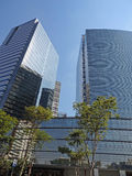 Moderne collectieve gebouwen Royalty-vrije Stock Afbeelding