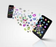 Moderne communicatie technologie Stock Foto