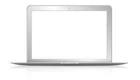 Moderne computer op witte achtergrond Royalty-vrije Stock Fotografie