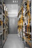 Moderne Computerkästen in einem Rechenzentrum Lizenzfreie Stockfotografie