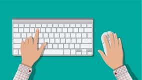 Moderne computertoetsenbord en muis Stock Fotografie
