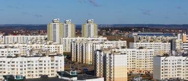 Moderne concrete gebouwen Stock Afbeelding