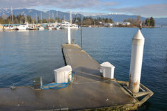 Moderne Concrete Marina Mooring Royalty-vrije Stock Foto