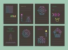 Moderne creatieve kaarten Royalty-vrije Stock Afbeeldingen