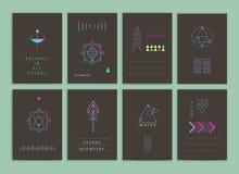 Moderne creatieve kaarten Stock Afbeelding