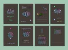 Moderne creatieve kaarten Stock Afbeeldingen