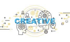 Moderne dünne Tiefenlinie-Konzept- des Entwurfesfahne des Wortes kreativ vektor abbildung