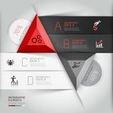 Moderne 3d infographics bedrijfsdriehoek. Royalty-vrije Stock Foto