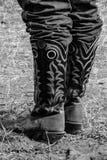 Moderne Dag Werkende Cowboy Boots Stock Afbeeldingen