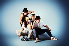 Moderne dansers Stock Foto's