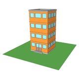 Moderne de bureaubouw vector Royalty-vrije Stock Afbeelding