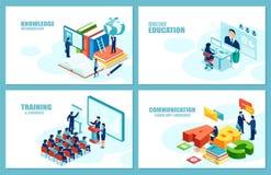 Moderne de groeivector van de onderwijscarrière voor websiteontwikkeling Reeks Web-pagina malplaatjes vector illustratie