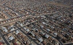 De Antenne van de Huizen van Albuquerque Royalty-vrije Stock Afbeelding