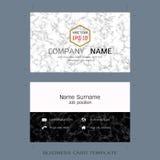 Moderne de lay-outmalplaatjes van het ontwerperadreskaartje royalty-vrije illustratie