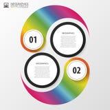 Moderne de optiesbanner van de zakenkrings yin yang stijl met pictogrammen Vector illustratie Royalty-vrije Stock Foto's