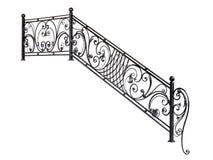 Moderne de trapstappen van het metaaltraliewerk Stock Foto's