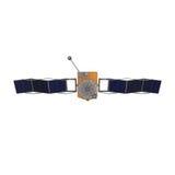 Moderne die GPS-satelliet op witte 3D Illustratie wordt geïsoleerd Stock Foto